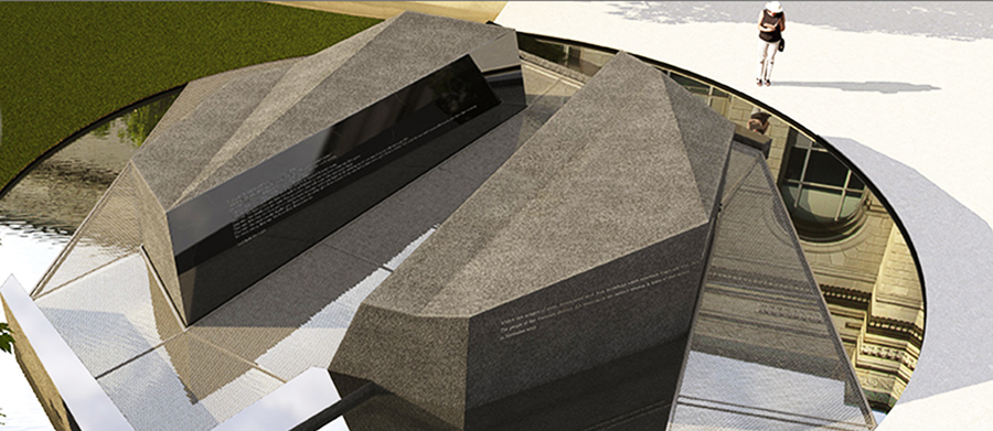 El monumento Veteranos de San Francisco costó $2.5 millones de dólares. San Francisco's new Veterans Memorial cost $2.5 million. Courtesy sfveteransmemorial.org.