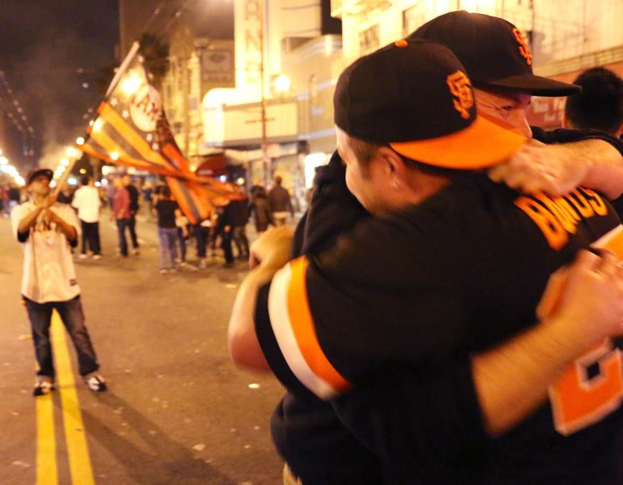 "1st Place: Kyle Smeallie ""Champions Embrace on Mission-Street"""