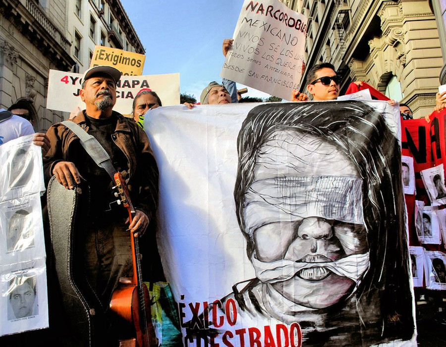 "Honorable Mention:  Paulina Alcaraz ""Todos somos Ayotzinapa"""