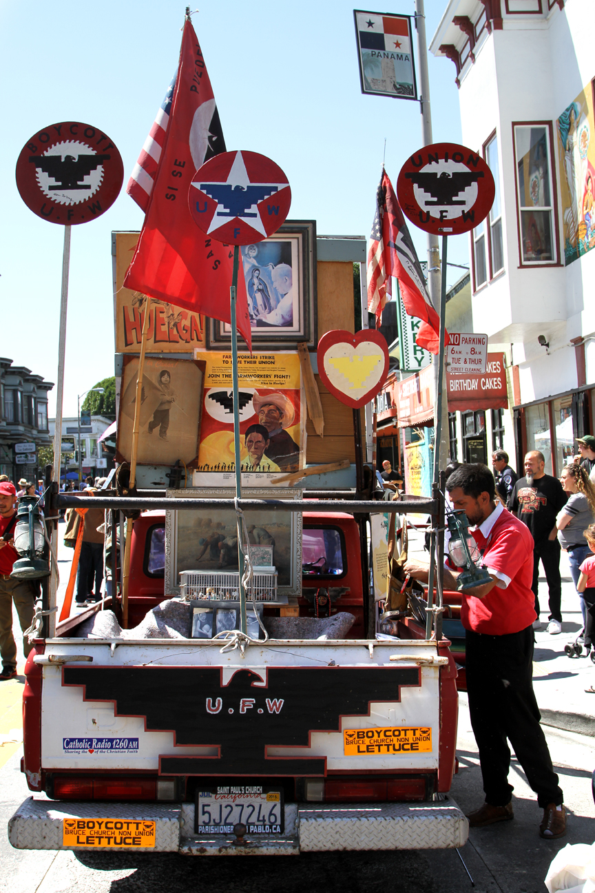 The Cesar Chavez Parade and Festival, celebrated on Saturday April 18, included music, dancing, arts, merchants and a car show. It spanned 24th Street from Treat to Bryant. Photo Estivaly Moreno
