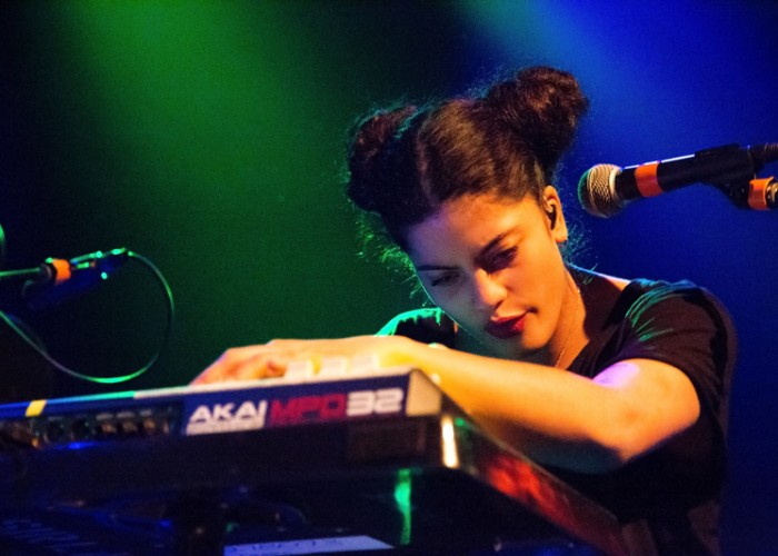Naomi Díaz of Ibeyi performing at The Independent in San Francisco on Thursday, April 2. Photo Elisa Parrino