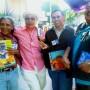 (De izquierda a derecha) Jorge Argueta, Juan Felipe Herrera, René Colato y Francisco Alarcón durante el Festival Flor y Canto 2012. Foto Holly Ayala