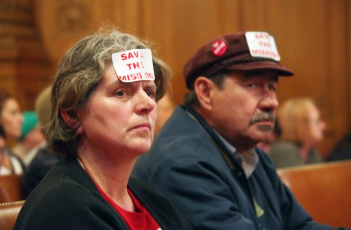 Elizabeth Deyoung (left) was one of the hundreds who voiced their support for the moratorium during the lengthy board of supervisors meeting on June 2. Photo S. Thollot