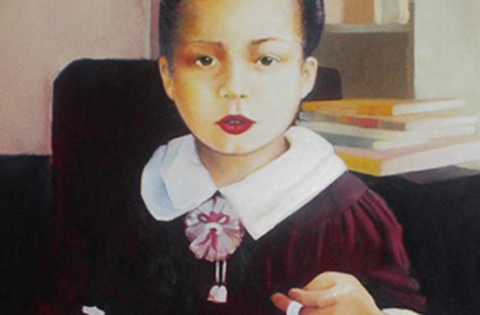 'Monica', por Lorraine García-Nakata, 1990, óleo sobre lienzo.