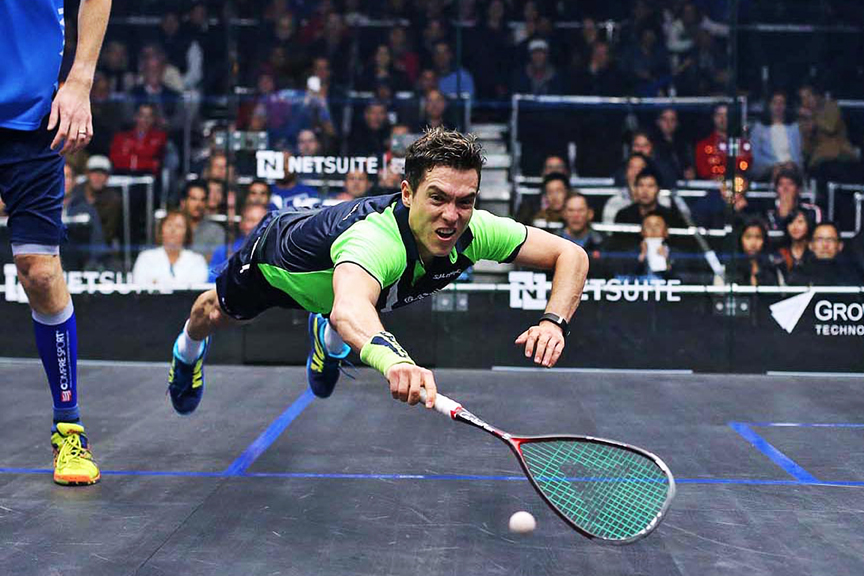 26 Match Against Australian Cameron Pilley At The 2015 Netsuite Open Squash Championships In San Francisco The No 5 World Rated Rodriguez