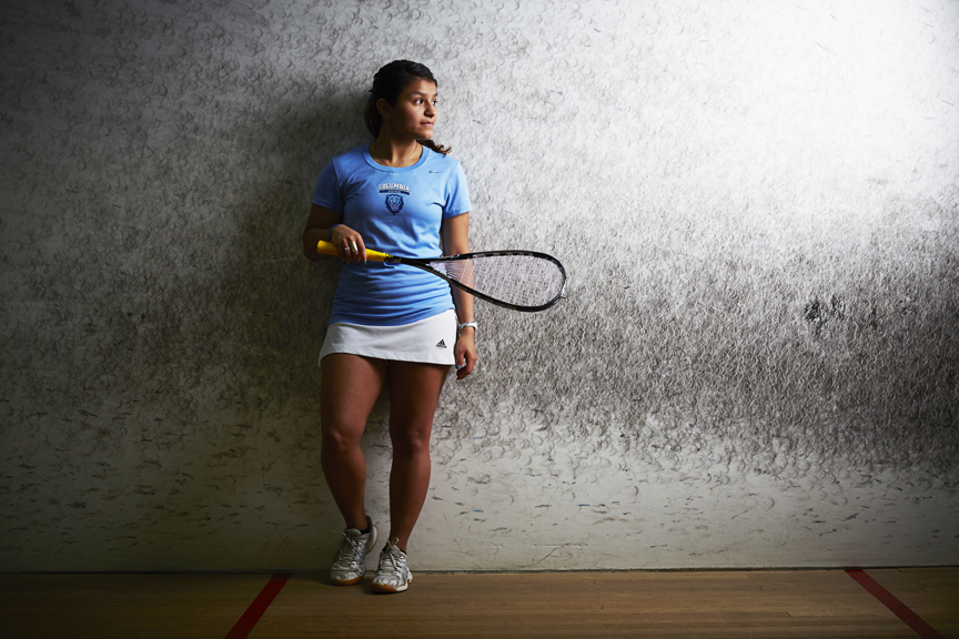 Reyna Pacheco, who was born in Tijuana, Mexico and raised in a tough ghetto in San Diego, poses for a portrait in Melbourne, Australia. The 21 year old earned a full scholarship to Columbia University through squash and now plays the sport professionally. Photo James Braund/Getty Images