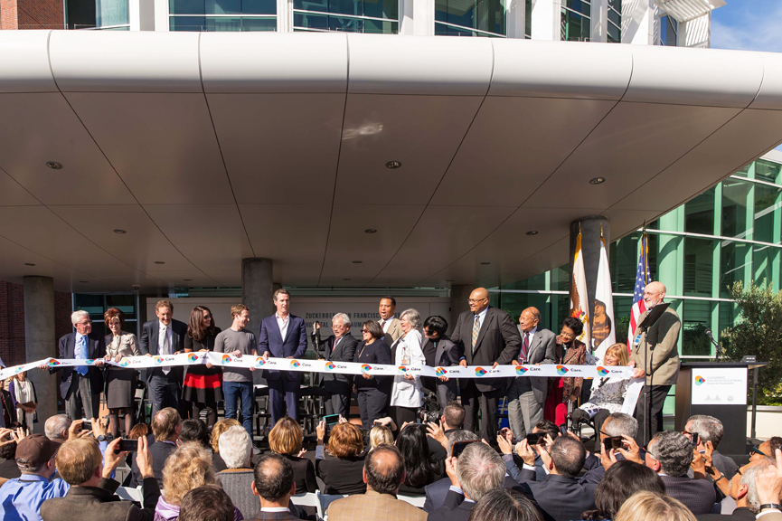Ribbon cutting and dedication ceremony of the Trauma Center at the Zuckerberg San Francisco General Hospital on November 10. Photo courtesy Drew Altizer Photography
