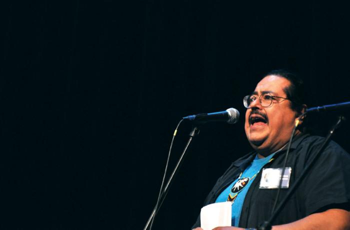 Francisco X. Alarcón. Photo Mabel Jiménez