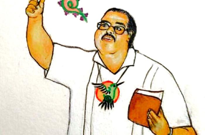 Art of Francisco X. Alarcón. Courtesy illustration