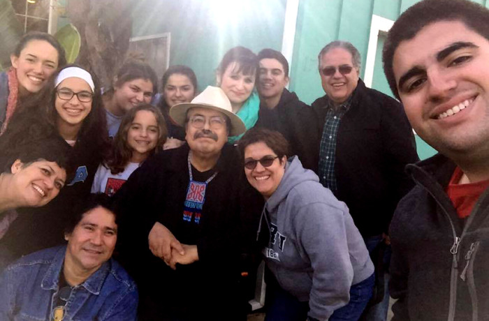 Francisco X. Alarcón with loved ones. Courtesy photo