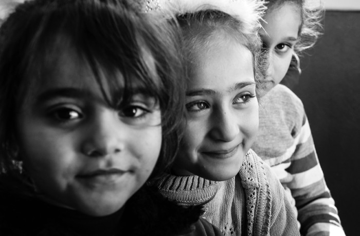 """""""These babies."""" El Eman school for Syrian children. Photo Amos Gregory"""