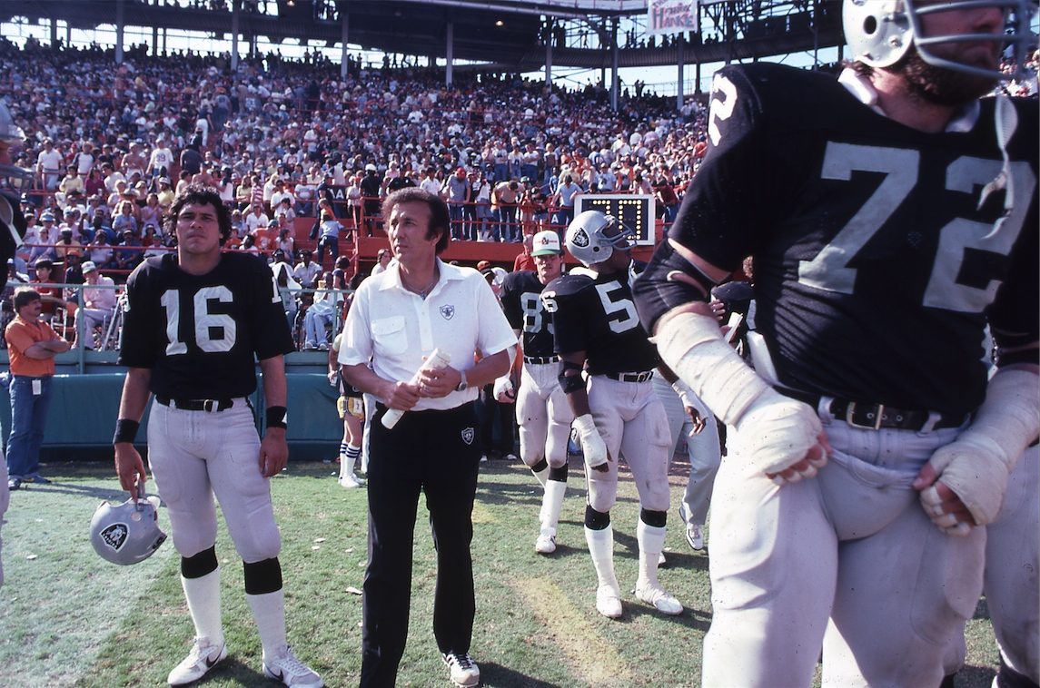 Jim Plunkett and Tom Flores
