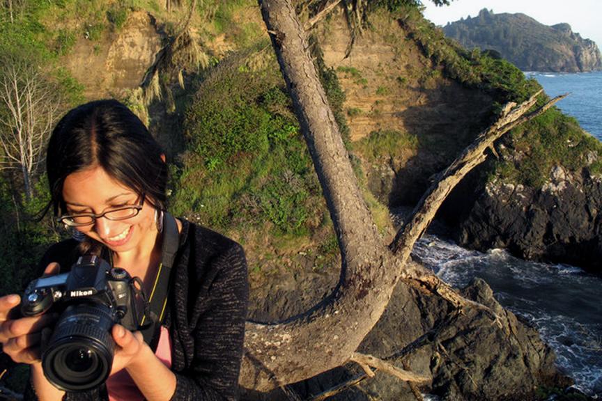 Mabel Jiménez, curator of Acción Latina's upcoming photo exhibit, Latino/a Life in the Bay. Photo Dominic Efferson