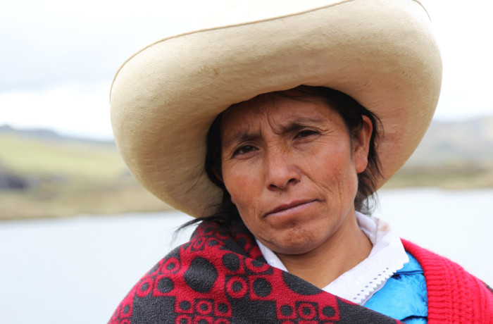 Máxima Acuña, 2016 Goldman Environmental Prize winner for South and Central America, stood up for her right to peacefully live off her own land, a plot of land in the Peruvian highlands sought by Buenaventura mining company and Newmont Mining to develop the Conga gold and copper mine. Photo: Goldman Environmental Prize