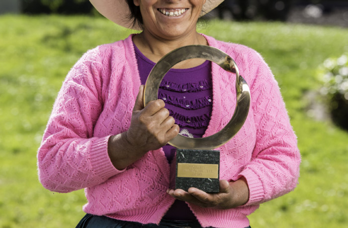 Maxima Acuña, recipient 2016 Goldman Environmental Prize, Central and South America. Photo: Goldman Environmental Prize
