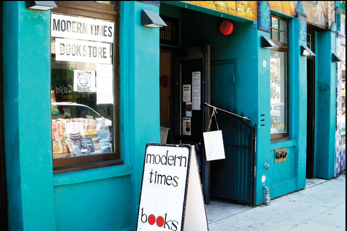 The collective Modern Times Bookstore. Photo Nicolás Cabrera/El Tecolote Archives