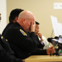 SFPD Police Chief Greg Suhr listens to criticism from District 9 Supervisor David Campos during a town hall meeting held at the Laborers' Local 261 addressing the fatal shooting of Luis Gongora by SFPD in San Francisco, California on April 13. Photo Joel Angel Juárez