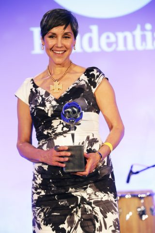 Doniece Sandoval was one of six Latinas to receive the Hispanicize Positive Impact Award in Miami on April 5. Sandoval founded Lava Mae, an organization that provides buses retrofitted with showers and bathrooms for the homeless. Courtesy of Hispanicize