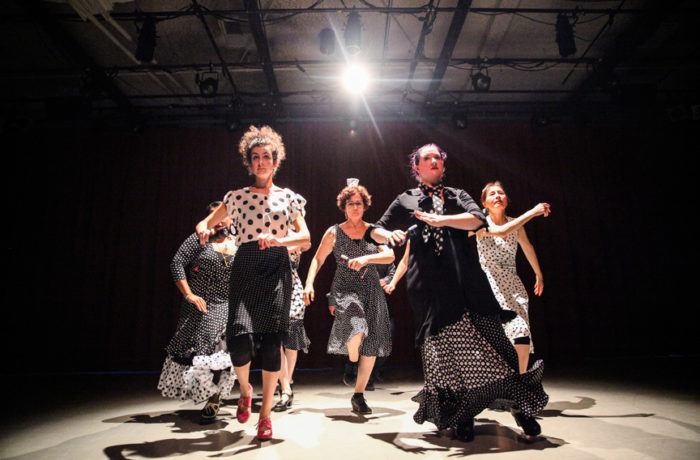 Students of flamenco teacher Danica Sena rehearse on June 11 at ODC Dance Commons in preparation for an upcoming performance on June 18-19 in the ODC's Global Dance Passport showcase. Photo Ekevara Kitpowsong