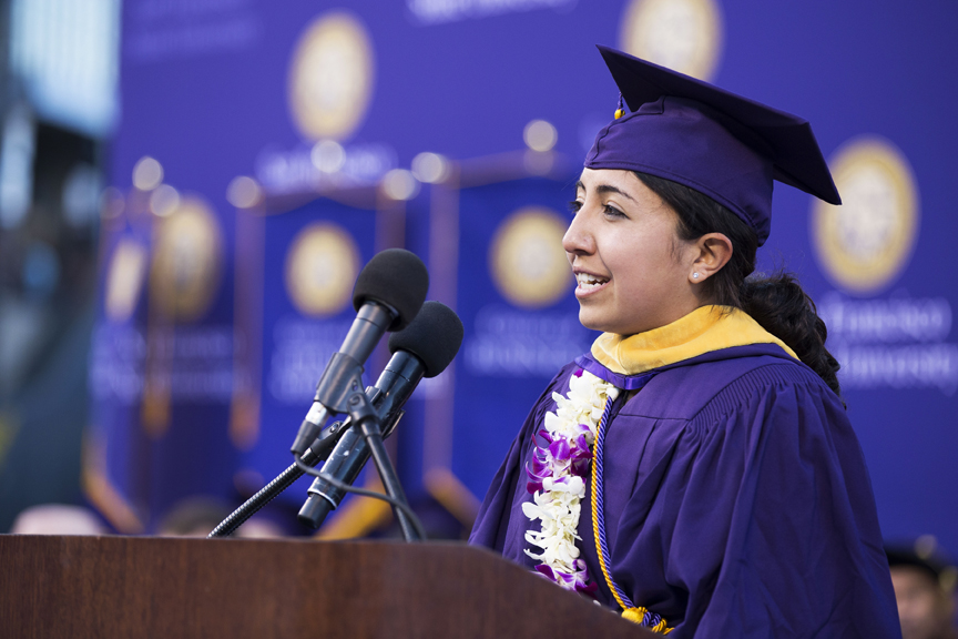 Claudia Corona at Graduation. Photo Courtesy SFSU