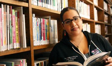Priscilla Lenares at San Francisco Mission Branch Library, California Tuesday July 19, 2016. Photo Jessica Webb