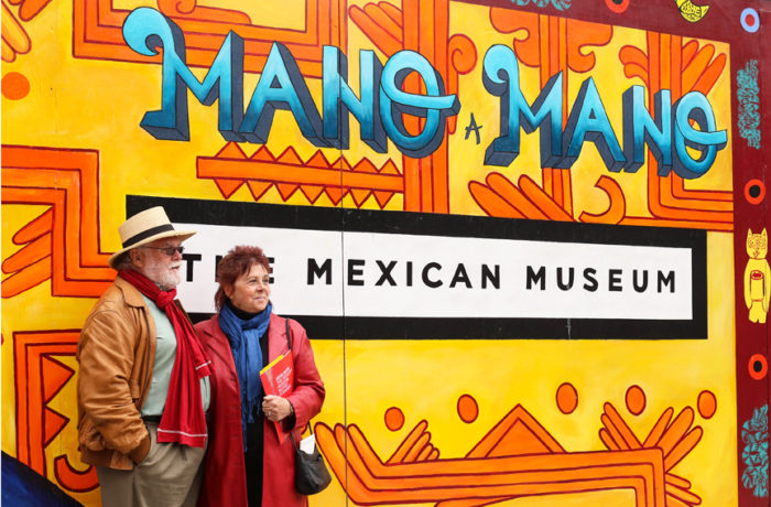 """""""[We are] excited and waiting for this for years,"""" Norman Pearce and Karen Knowles-Pearce said at the dedication ceremony for The Mexican Museum in San Francisco, California. Tuesday, July 19, 2016. Photo Jessica Webb"""