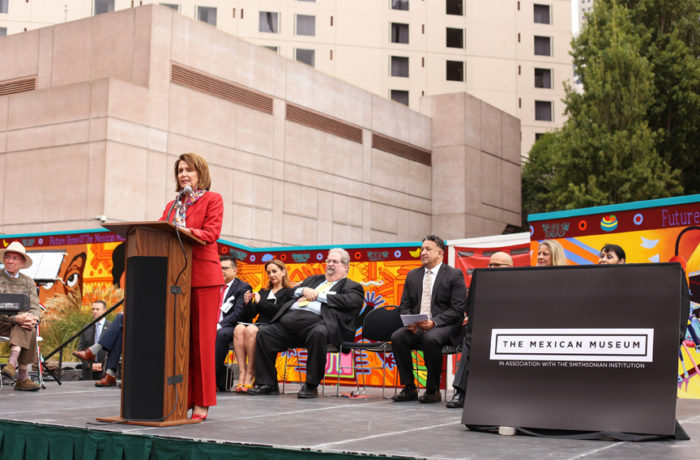 """""""The greatest goal for modern good is imagination,"""" House Minority Leader Nancy Pelosi said at the The Mexican Museum's dedication ceremony in San Francisco on Tuesday, July 19. Photo Jessica Webb"""