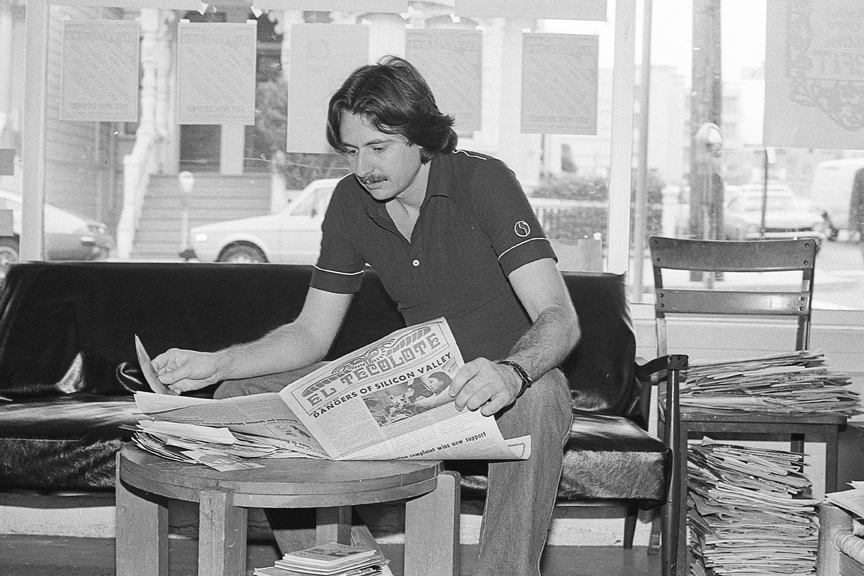 Lou Dematteis, former photographaer and photo editor for El Tecolote, 1980. Courtesy Lou Dematteis