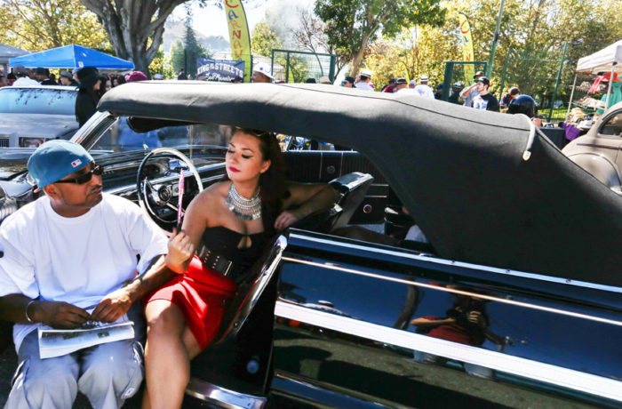 On a hot Sunday in the Mission District the San Francisco Lowrider Council held a barbecue for Mexican Independence day followed by a cruise through the city. Potrero del Sol (La Raza) Park was filled with people gathering to celebrate and admire lowriders Sept. 18. Photo: Jessica Webb