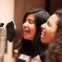 """Ana y Eliseana de Mission Girls, grabaron la cancion """"We are the Women"""" por medio de una colaboración con Future Youth Records, un sello disquero no lucrativo. Courtesía Mission Girls"""