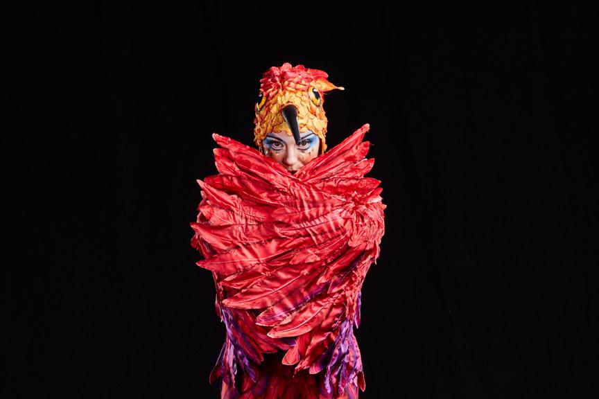 "Maya Kesselman, as her hummingbird character, as performed in Cirque du Soleil's latest play, ""Luzia."" Courtesy: Cirque du Soleil"