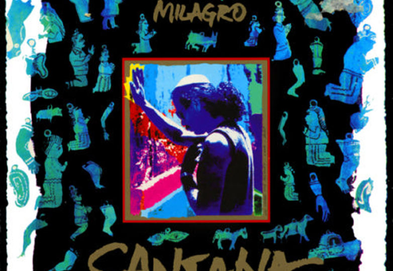 "Michael Roman designed the cover for Carlos Santana's 1992 album, ""Milagro."""
