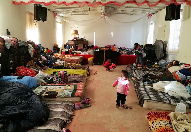 Haitian refugee children play in the shelter at Misión Evangélica Roca de Salvación in Tijuana, Mexico on Jan. 12, 2017. Photo by Francisco Orozco