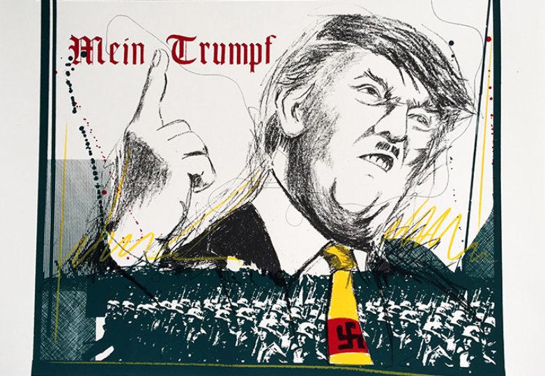 """""""Mein Trumpf,"""" silkscreen by Malaquías Montoya"""