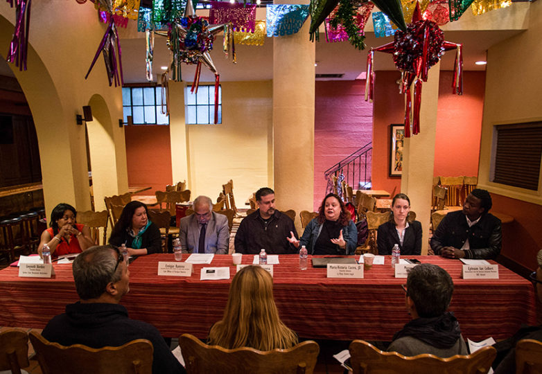 Sanctuary Restaurants workshop panel at Don Ramon's Restaurante, San Francisco, California Monday, March 20, 2017. Photo: Jessica Webb