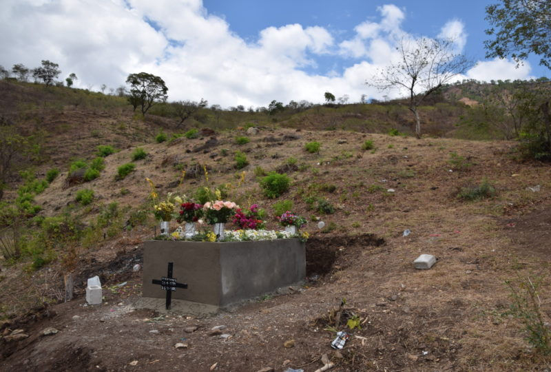 Amilcar's burial site at his home town of San Jose la Arada, in the district of Chiquimula, Guatemala. Photo courtesy of the legal team for Perez-Lopez