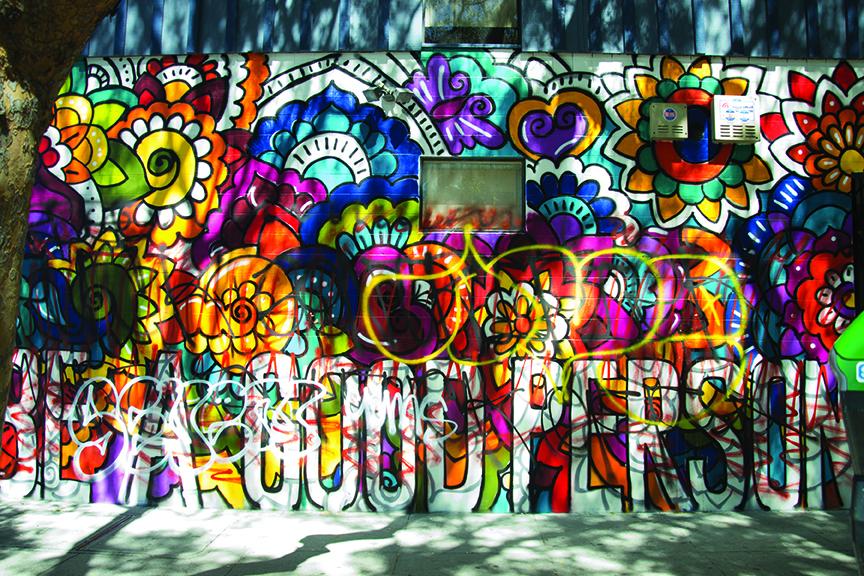 el nuevo mural con la leyenda us una buena personau fue rayado luego de que los artistas lo terminaran foto mabel jimnez