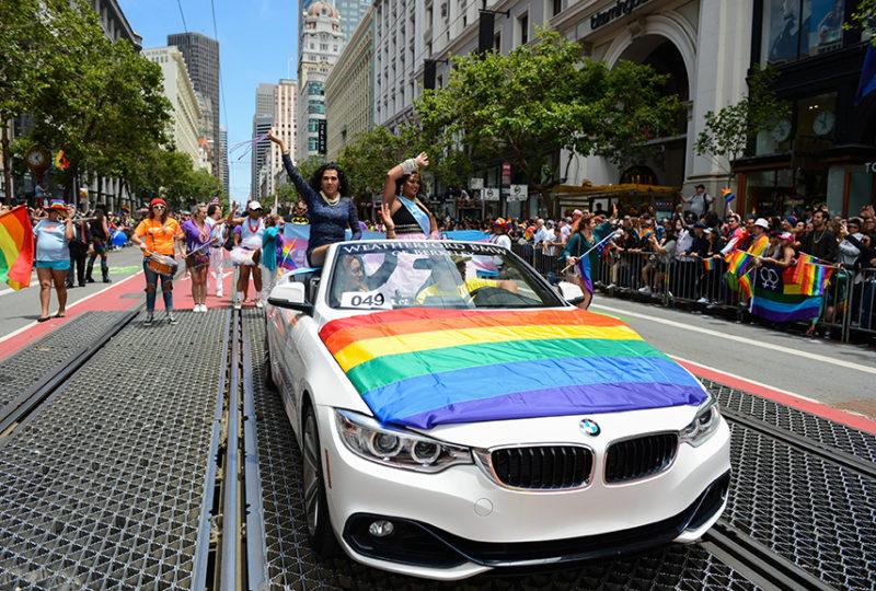 El/La Para Trans Latinas at the San Francisco Pride parade on Sunday, June 25. Photo: Desiree Rios