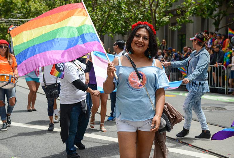 Sofia Sabrina Rios, member of El/La Para Trans Latinas, poses for a photo at the San Francisco Pride parade on Sunday, June 25. Photo: Desiree Rios