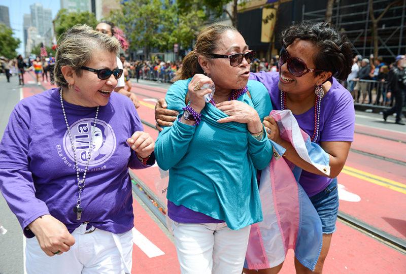 Supporters of El/La Para Trans Latinas at the San Francisco Pride parade. Photo: Desiree Rios