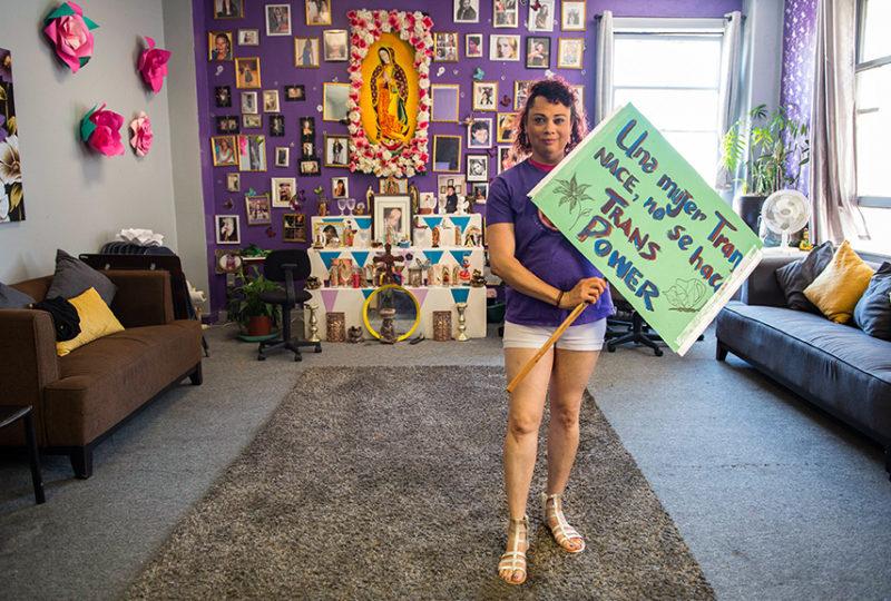 Alondra Toruno posses for a photo at the El/La Para TransLatinas office on Friday, June 23. Photo: Desiree Rios