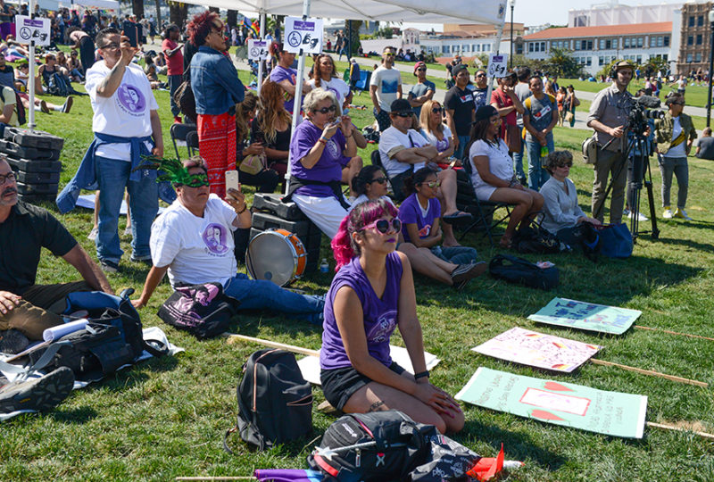 Supporters of El/La Para Trans Latinas attend the Trans March at Dolores Park on Friday, June 23. Photo: Desiree Rios