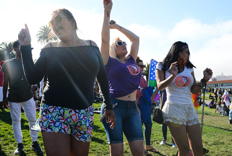 Community members dance at the Trans March in San Francisco on Friday, June 23. Photo: Desiree Rios