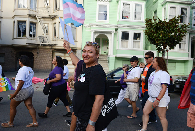 Community members attend the Trans March in San Francisco on Friday, June 23. Photo: Desiree Rios