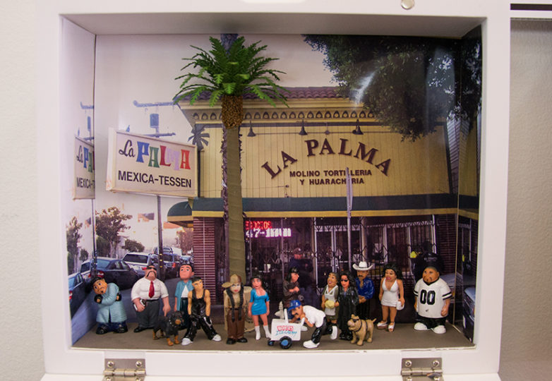 "Cindy De Losa's ""Homes for the Homies"" shadow box. Photo: Mabel Jiménez"