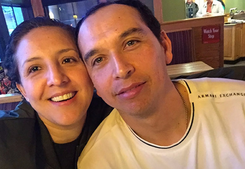 Yadira Munguia and her husband Hugo Mejia, who was detained by Immigration and Custom Enforcement (ICE) on May 3 while at working construction at a hospital located at Travis Air Force Base in Fairfield, California. He remains in ICE custody. Courtesy: Yadira Munguia