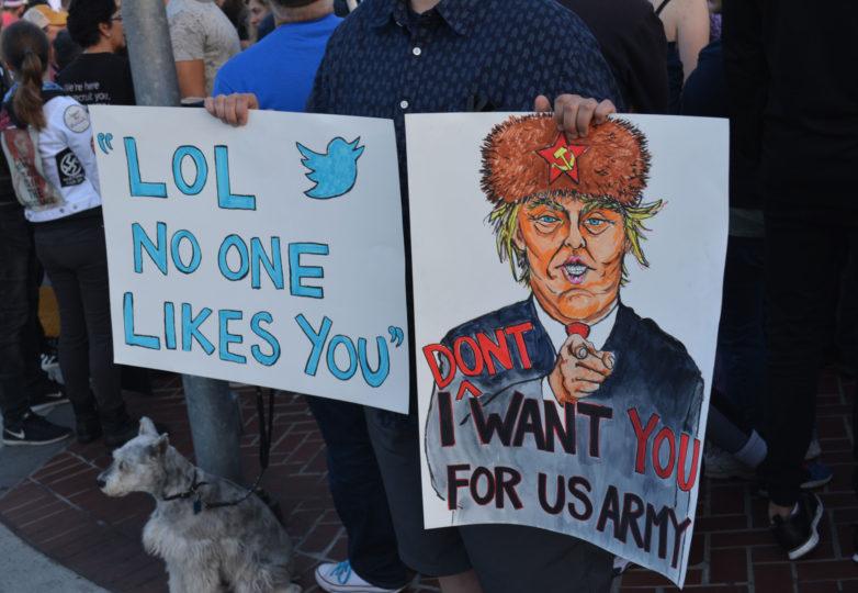 La comunidad LGBTQ de San Francisco reacciona ante la amenaza de Trump de vetar a las personas transgénero de participar en el milicia. Foto: Jay Garcia