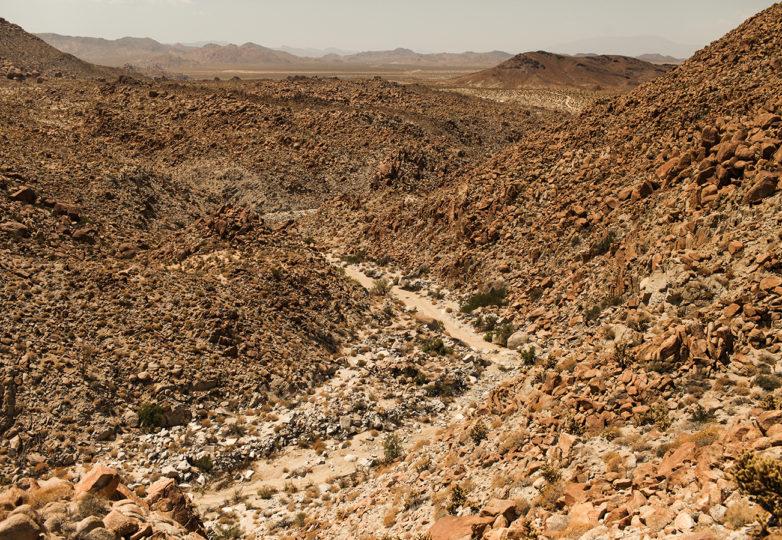 Una vista de Carrizo Gorge en el Parque Estatal Desierto Anza Borrego, en Ocotillo, California. Ese punto es uno de los más peligrosos cruces para inmigrantes por la aridez de su terreno, lejanía y los niveles de calor extremo que puede alcanzar los 120 grados Fahrenheit durante el verano. Foto: Joel Angel Juárez