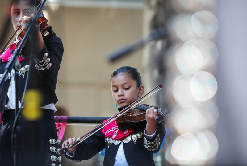 "Mariachi Juvenil ""La Misión"" performs at the Brava Stage at"