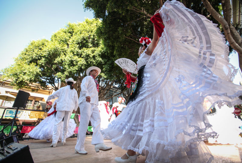 Ballet Folklórico Cuicacalli performs on Brava Stage at 24th an